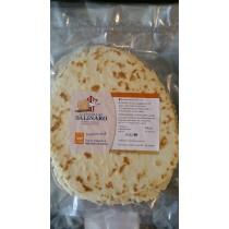 Piadina artigianale al sale dolce di Cervia, con strutto, in confezione da 5 piadine
