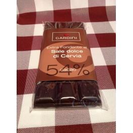 Tavoletta di Cioccolata Extra Fondente al sale dolce di Cervia 54 % 100 g.