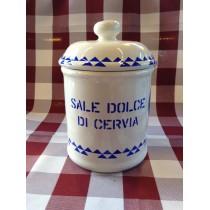 Vaso di ceramica con sale di Cervia 300 g.