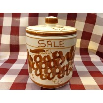 "Vaso porta-sale ""Crescentini"" decoro ruggine"