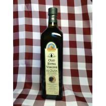Olio extra vergine di oliva in bottiglia da 1 L.