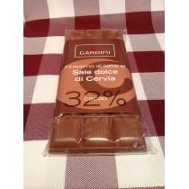 Tavoletta di Cioccolata al Sale Dolce di Cervia 32 % 100 g.