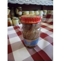 Filetti distesi di acciughe sott'olio in vasetto di vetro 80 g.